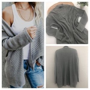 American Eagle Cardigans Sweater Gray Size L